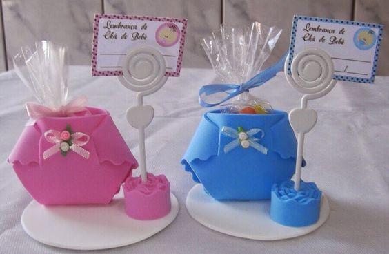 lembrancinha de EVA para chá de bebê