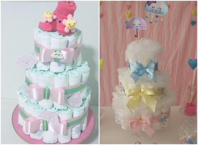 bolo decorado chuva de amor
