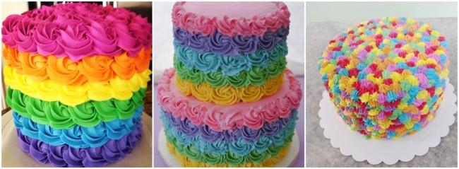 ideias para decoração de bolo colorido