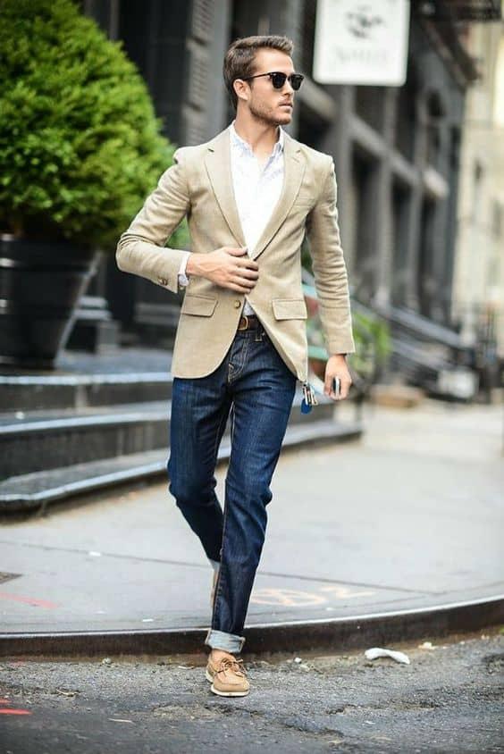 look maculino com blazer