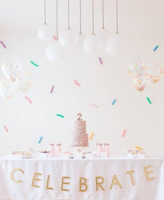 decoração festa simples e em casa