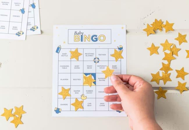 Baby bingo para chá de bebê