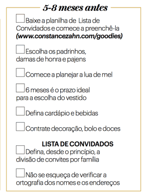 Checklist de casamento 2