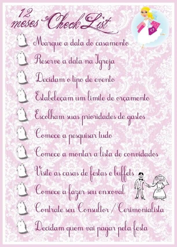 Checklist de casamento 5