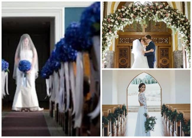 Decoração de igreja para casamento 1