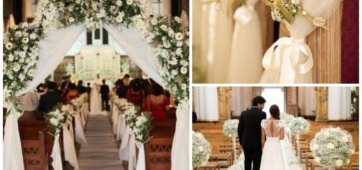 Decoração de igreja para casamento 4