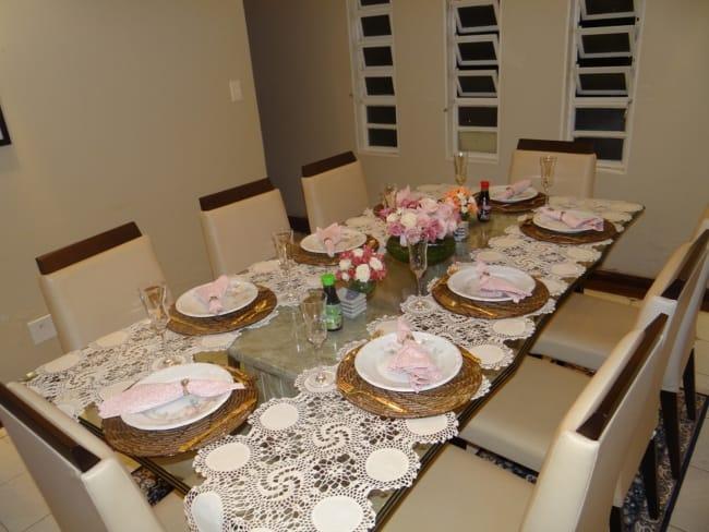 Decoração de mesa simples para noivado
