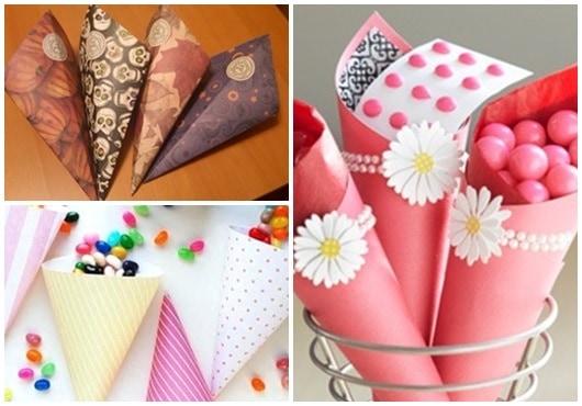 Ideias para cone de papel1