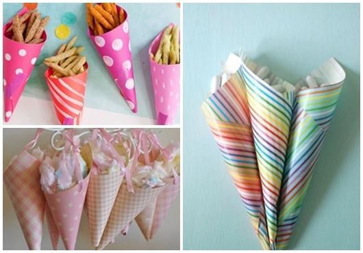Ideias para cone de papel2