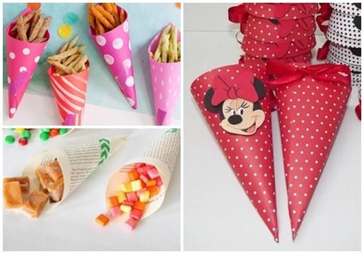 Ideias para cone de papel3