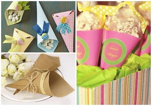 Ideias para cone de papel5