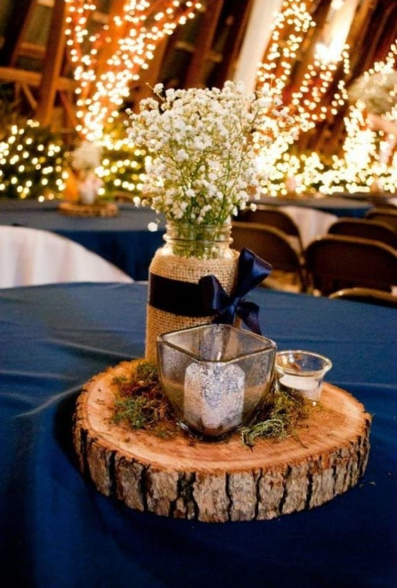 Jantar de noivado rústico temática