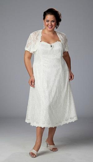 Noiva com vestido curto rendado