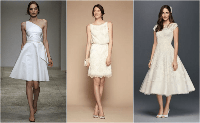 Três vestidos de noiva para casar no civil