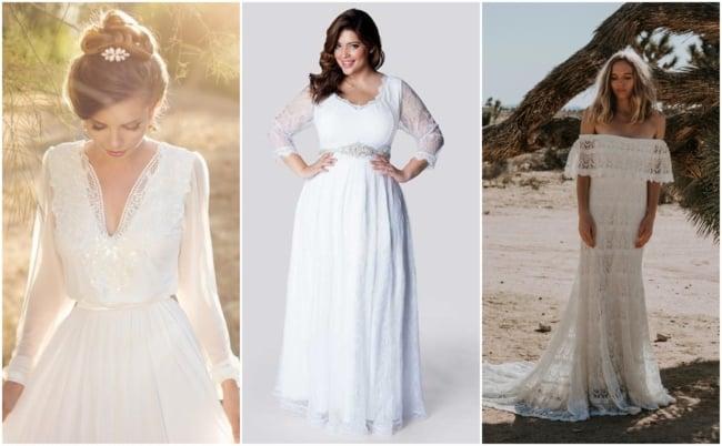 Vestido de noiva com manga 2