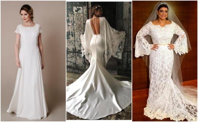 Vestido de noiva com manga 3