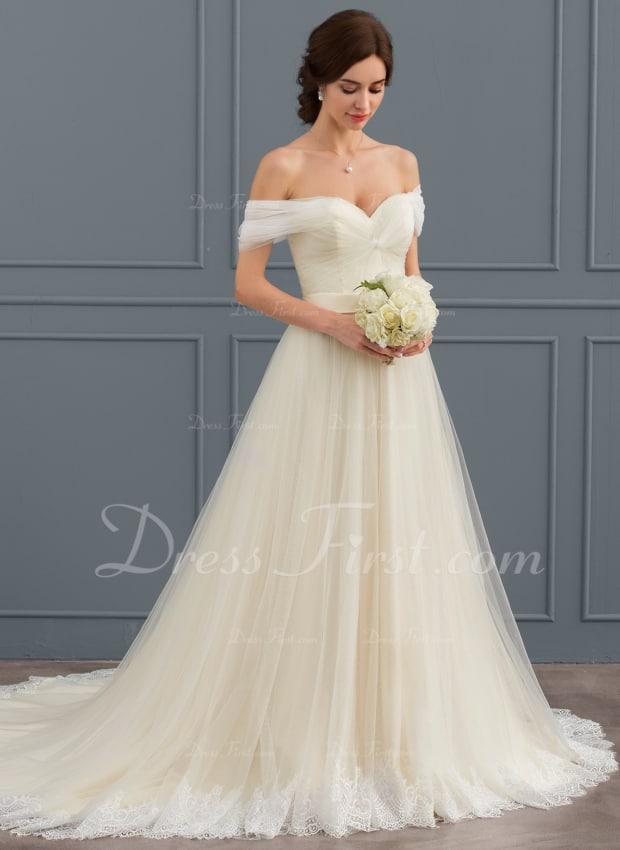 Vestido de noiva com manga princesa