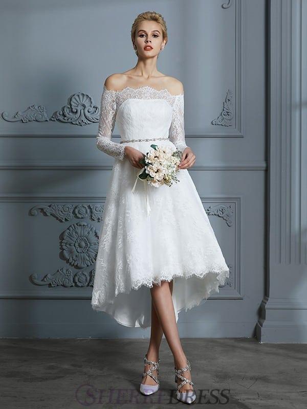 Vestido de noiva com saia mullet