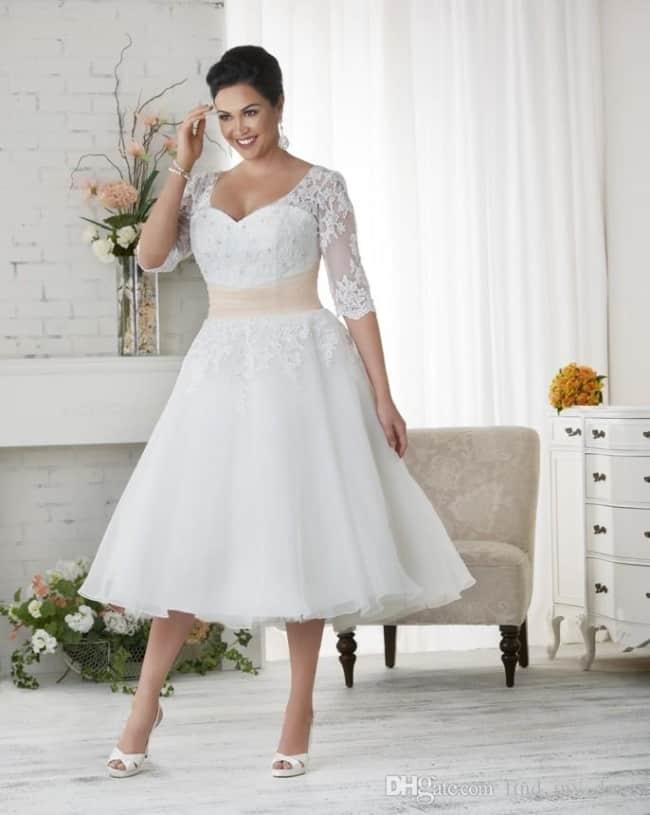 Vestido de noiva rodado plus size