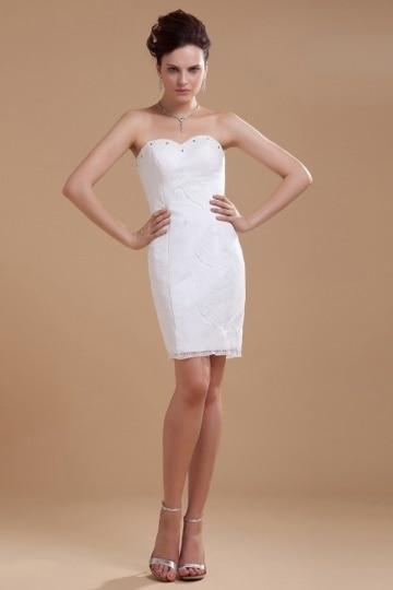 Vestido de noiva tubinho tomara que caia