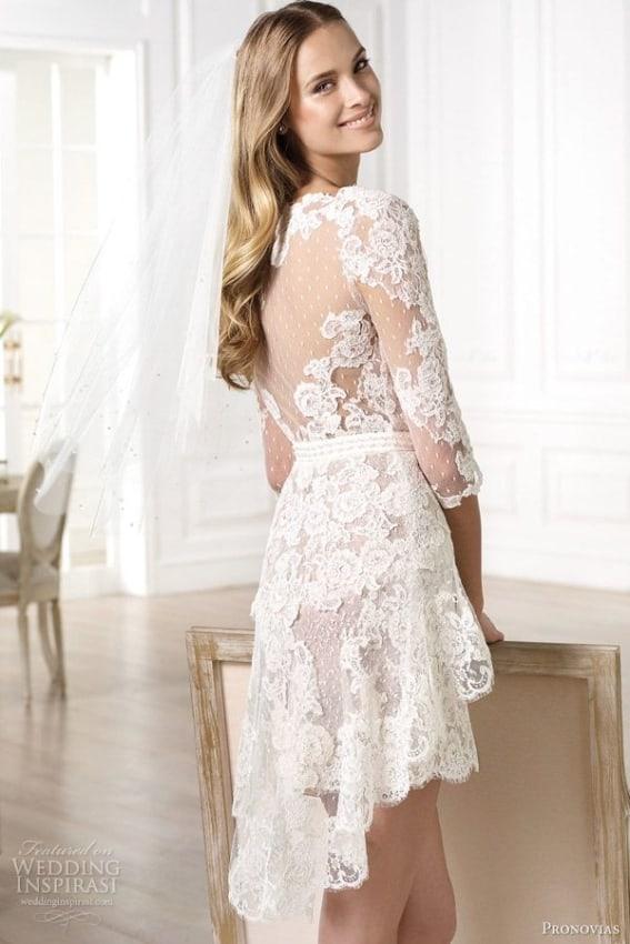 Vestido rendado de noiva