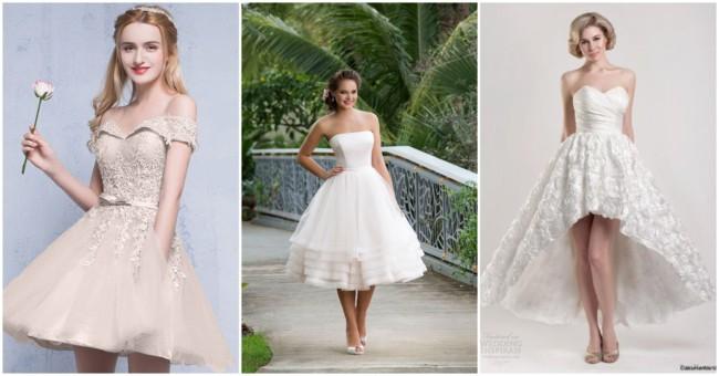 Vestidos de noiva curtos 2