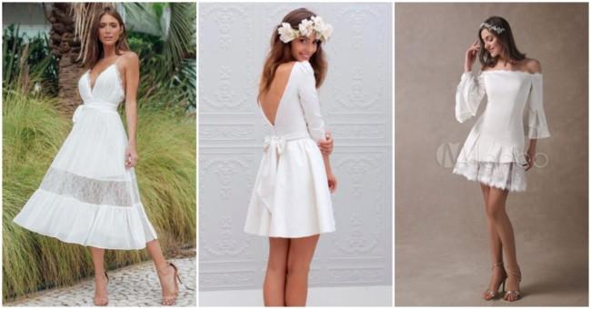 Vestidos de noiva curtos 4