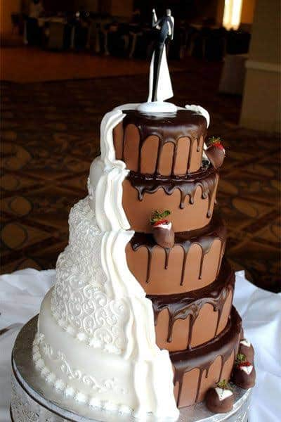 bolo de casamento criativo duas camadas