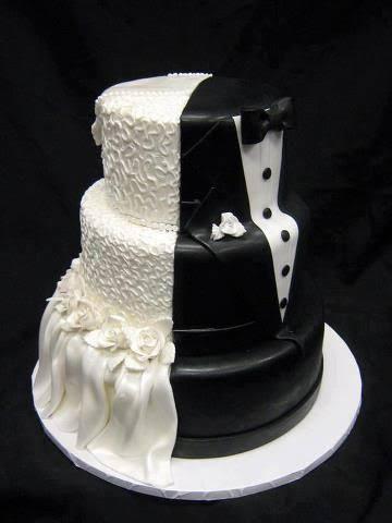 bolo de casamento criativo duplo