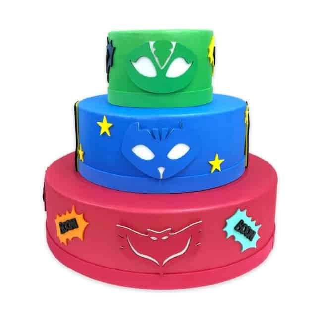 bolo dos PJ Masks falso