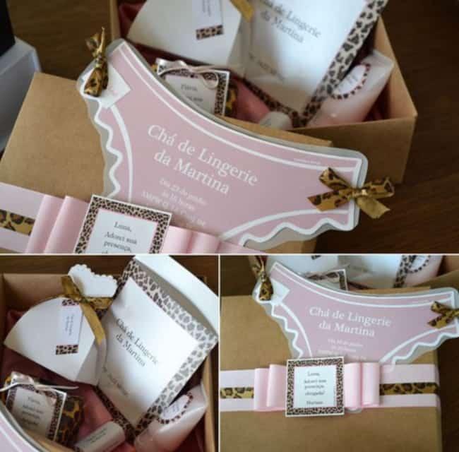caixa lembrancinha chá de lingerie