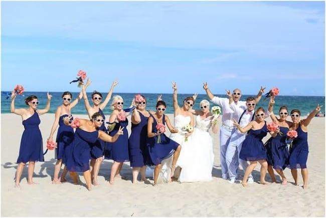 casamento na praia fotos divertidas