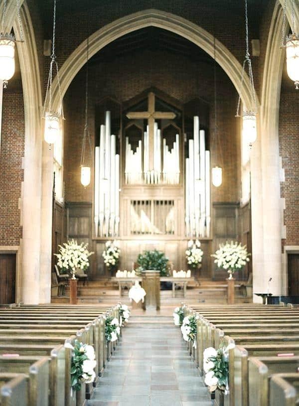 casamento perfeito na igreja simples