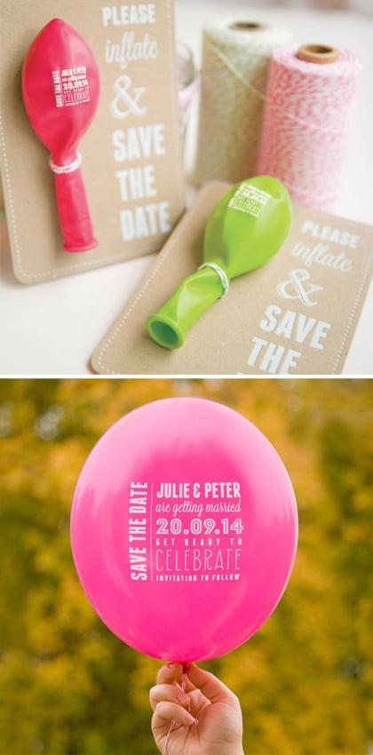 convite de casamento criativo balão