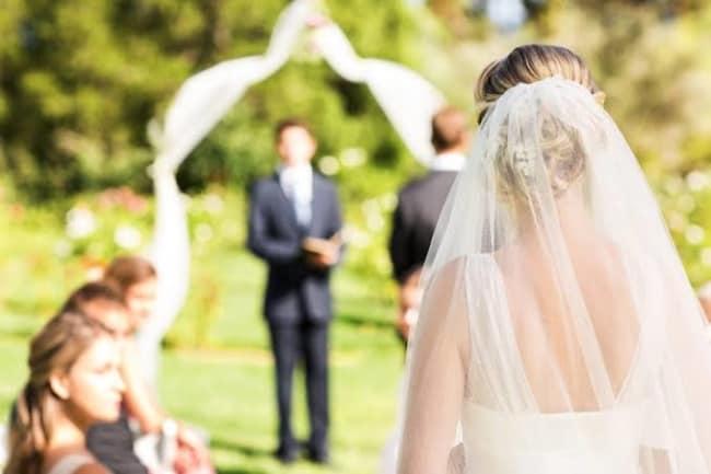 entrada da noiva de casamento
