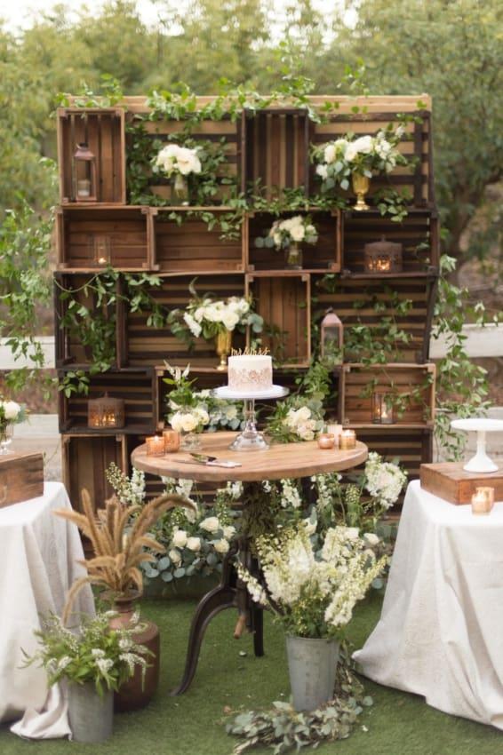 festa de casamento criativa rústica