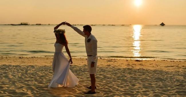 foto de casamento na praia