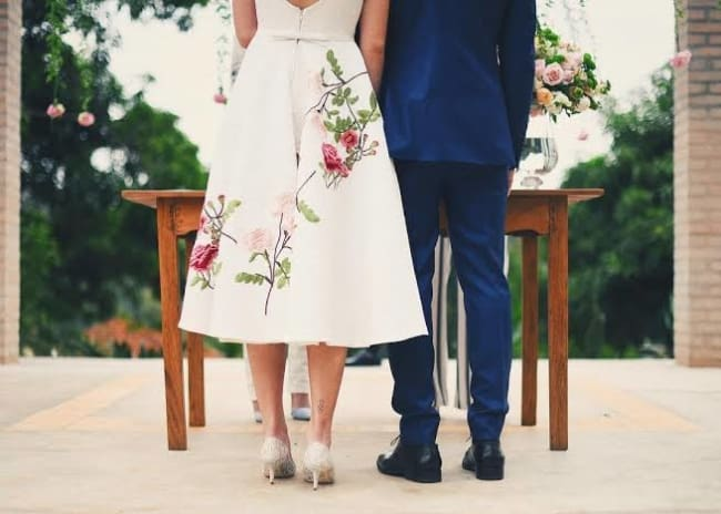 foto de casamento no civil