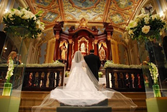fotos lindas de casamento na igreja