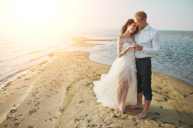 ideias de fotos de casamento na praia