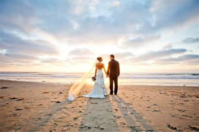 lindas fotos de casamento na praia