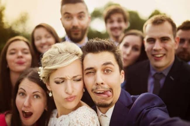 selfie criativa de casamento
