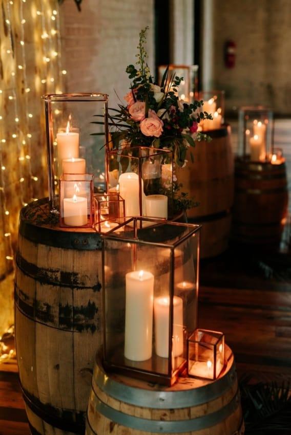 velas para festa de casamento