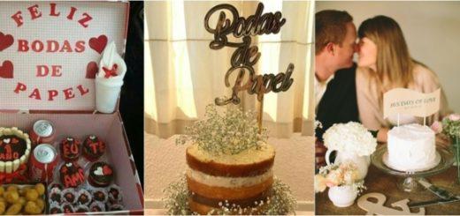 ideias para bodas de papel
