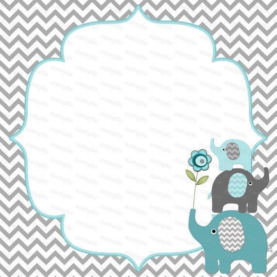 convite de elefante para imprimir grátis