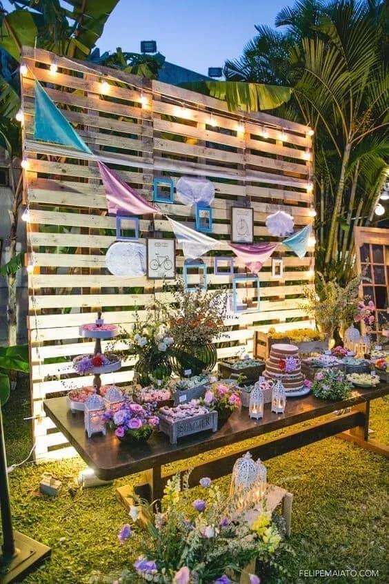 festa no jardim de casa