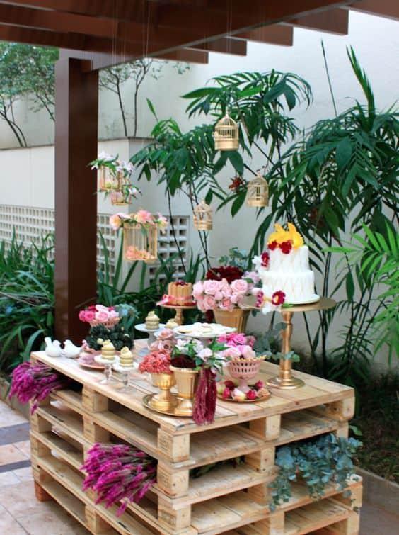 festa de 15 anos no jardim de casa