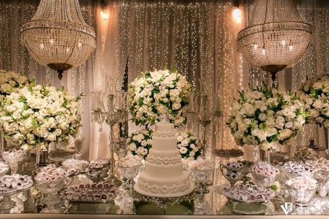decoração de casamento de luxo