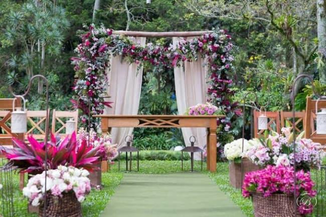 decoração de casamento no campo