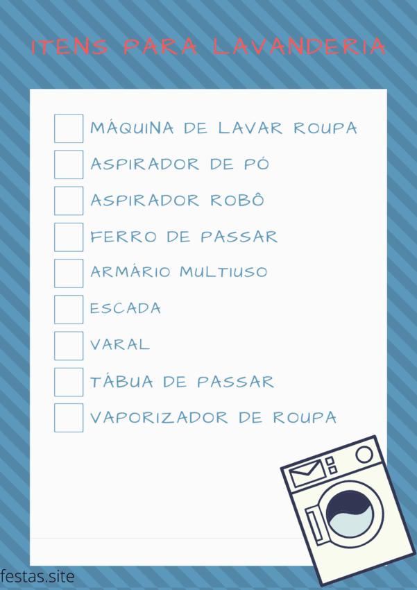 lista de presentes com itens para lavanderia 1